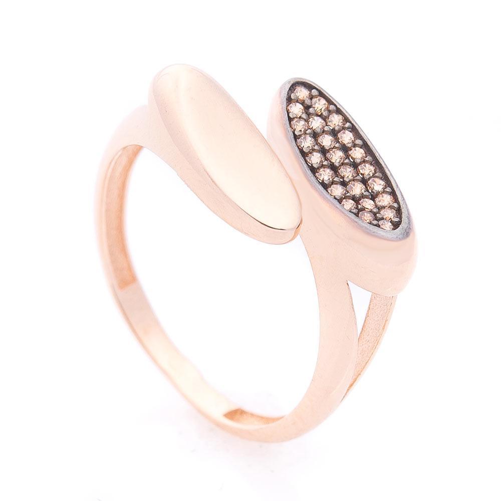 Золотое кольцо с фианитами гк05910