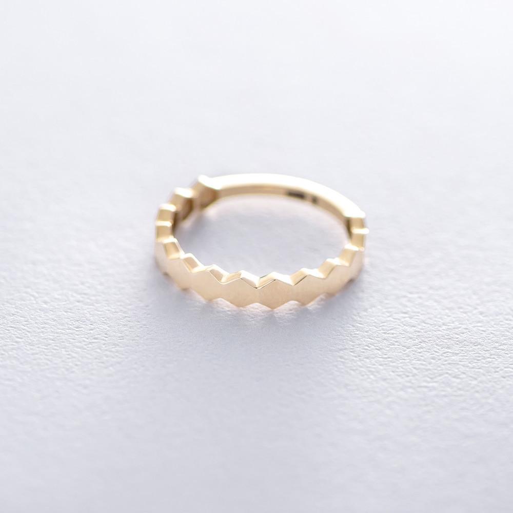 Золотое кольцо без камней гк06214