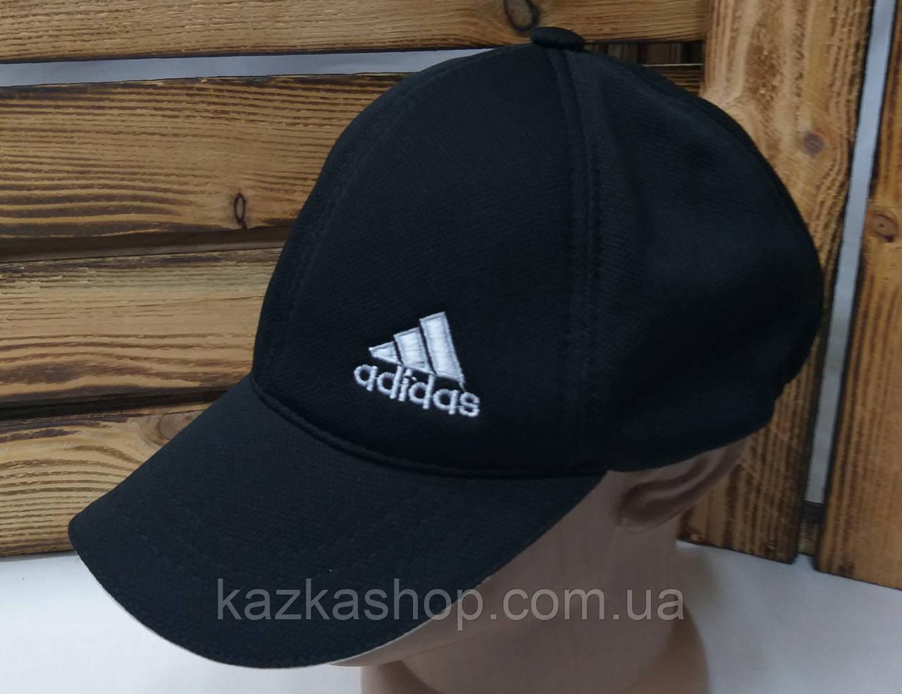 Мужская кепка в стиле Adidas (реплика) черного цвета, лакоста, сезон весна-лето, малая вышивка, на резинке