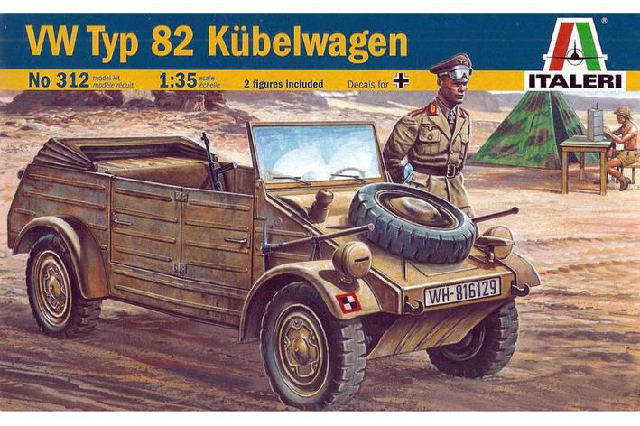 Модель немецкого военного легкового автомобиля VW Kdf 1 Typ 82 Kubelwagen. 1/35 ITALERI 312, фото 2