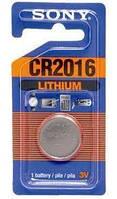 Батарейка таблетка CR2016 Sony Lithium блістер (1шт) (CR2016BEA)