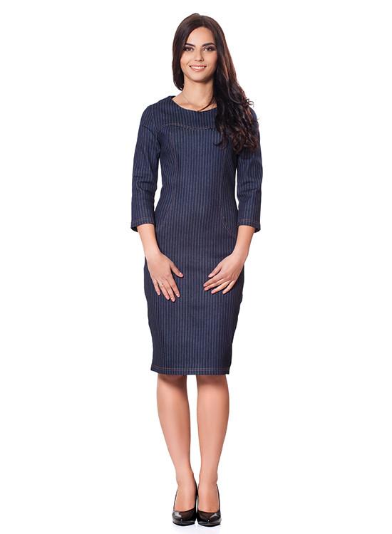 85befc7db2d Стильное джинсовое платье-миди (размеры XS-3XL) - Интернет-магазин Кокетка