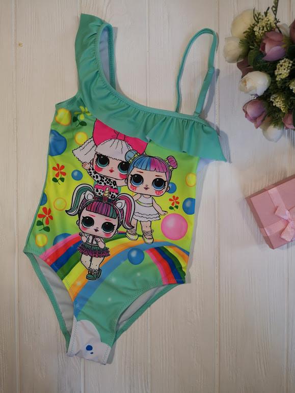 Сдельный купальник для девочек с куклами LOL