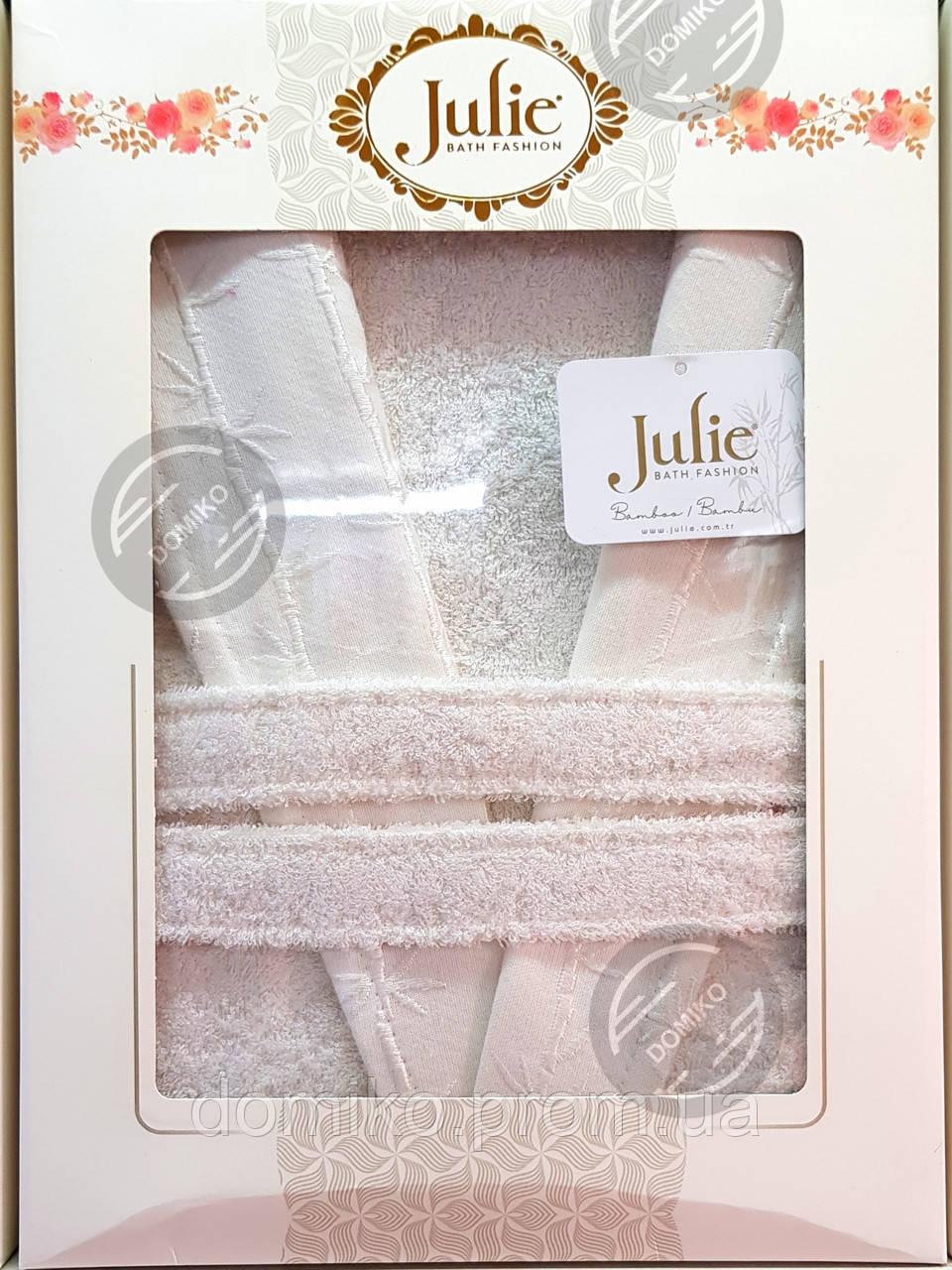 Халат бамбуковый унисекс Julie XL (52) белый