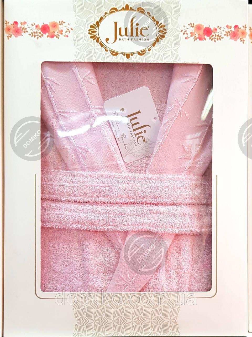 Халат бамбуковый унисекс Julie XL (52) розовый