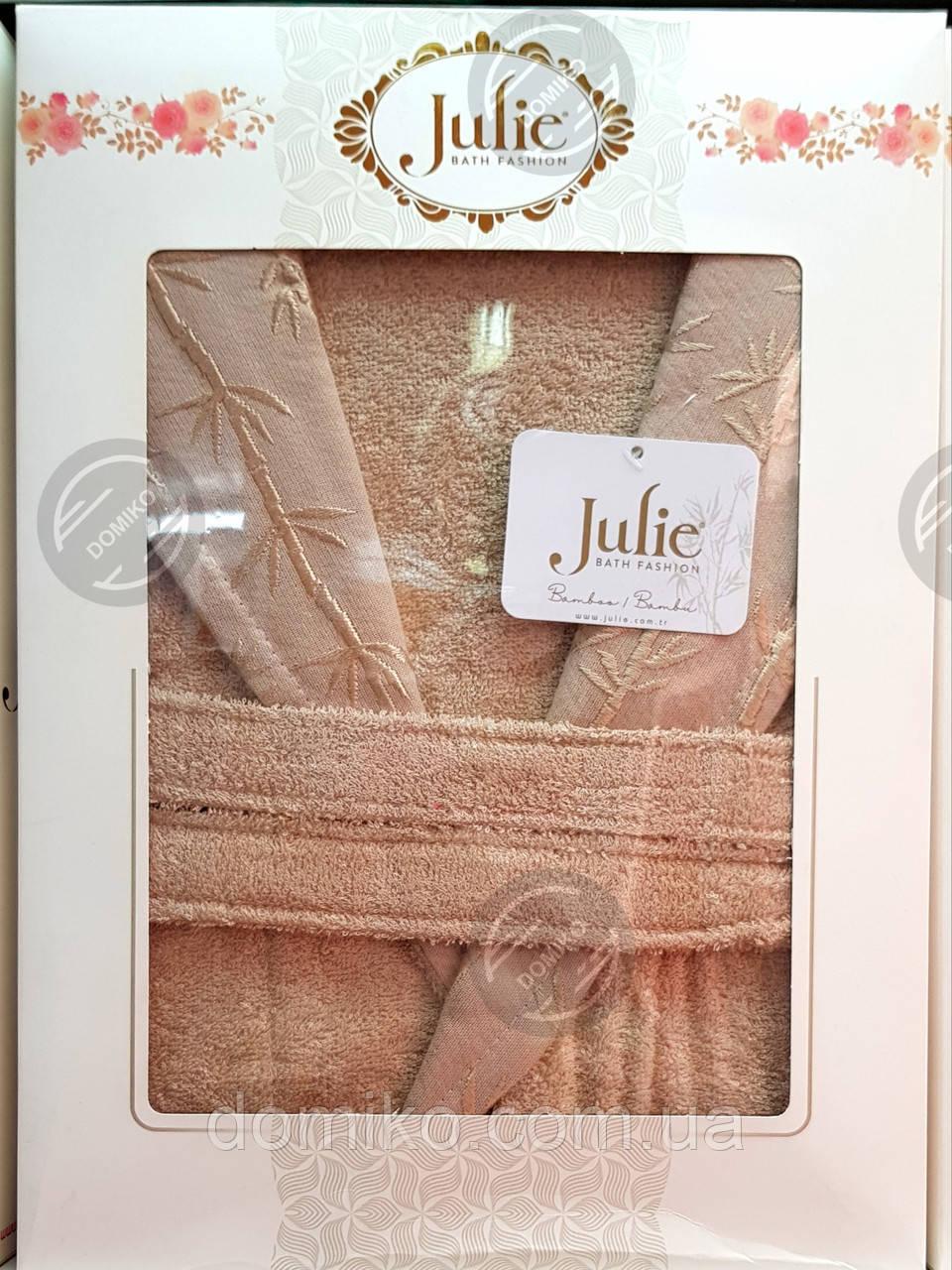 Халат бамбуковый унисекс Julie XL (52) кремовый