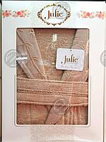 Халат бамбуковый унисекс Julie XL (52) кремовый, фото 1