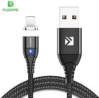 FLOVEME Магнитный кабель usb Lightning быстрая зарядка 3А для iOS Apple iPhone для зарядки Цвет чёрный, фото 1