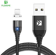 FLOVEME Магнітний кабель usb Lightning швидка зарядка 3А для iOS Apple iPhone для зарядки Колір чорний