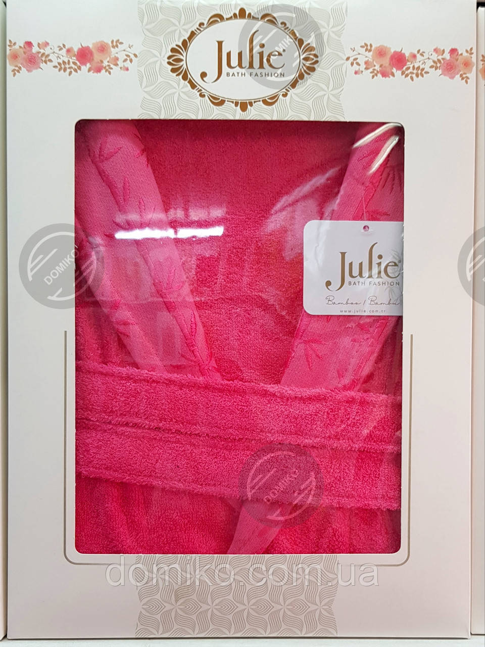 Халат бамбуковый унисекс Julie XXL (54) малиновый