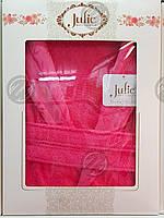 Халат бамбуковый унисекс Julie XXL (54) малиновый, фото 1