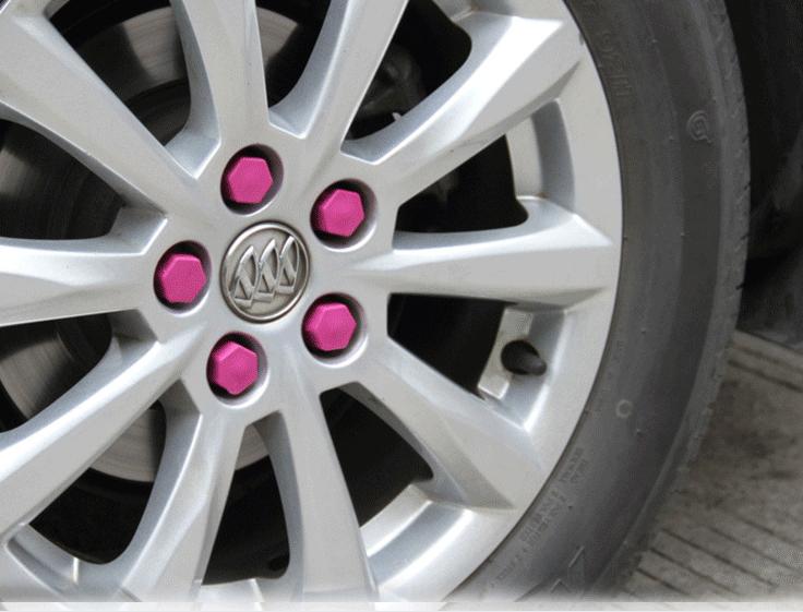 Ковпачки силіконові на колісні гайки 19 мм круглі малинові