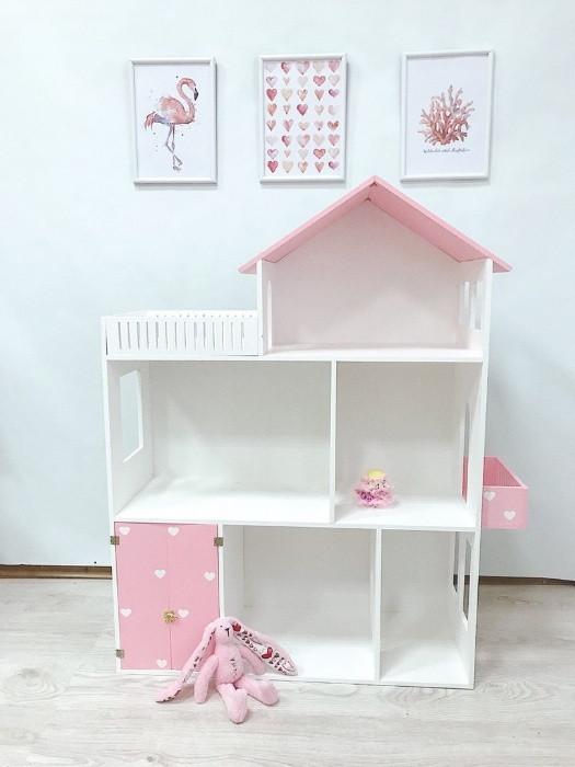 Кукольный домик для кукол розовый, 110*90*30