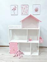 Кукольный домик для кукол розовый, 110*90*30, фото 1