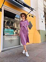 Однотонное платье с поясом, разные цвета, фото 1