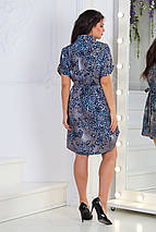 Платье- рубашка 5285 синее, фото 3
