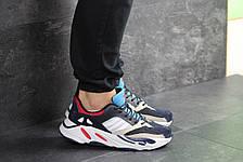 Демисезонные мужские кроссовки Adidas balance life,белые с синим, фото 2