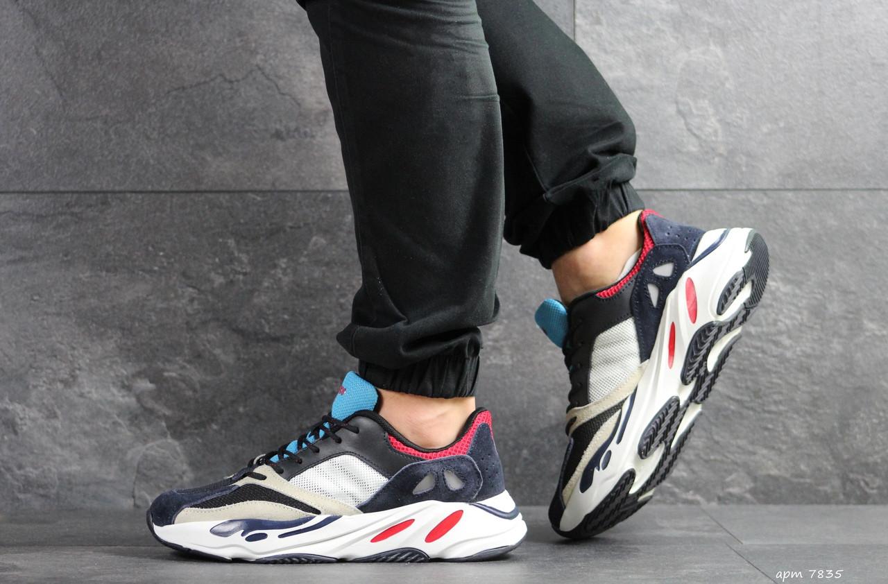 Демисезонные мужские кроссовки Adidas balance life,белые с синим