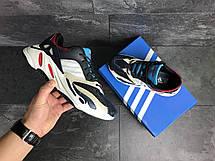 Демисезонные мужские кроссовки Adidas balance life,белые с синим, фото 3