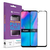 Захисне скло Huawei P30 Full Cover Full Glue прозоре MakeFuture