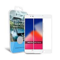 Захисне скло Meizu M6 Note Full Cover прозоре (біле) MakeFuture