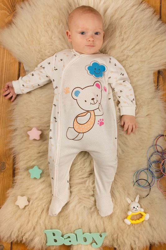 Комбинезон Человечек для малышей интерлок  (62, 68, 74, 80 см)