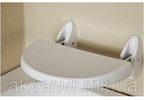 Сиденье для ванной Prima Nova настенное откидное (белое)