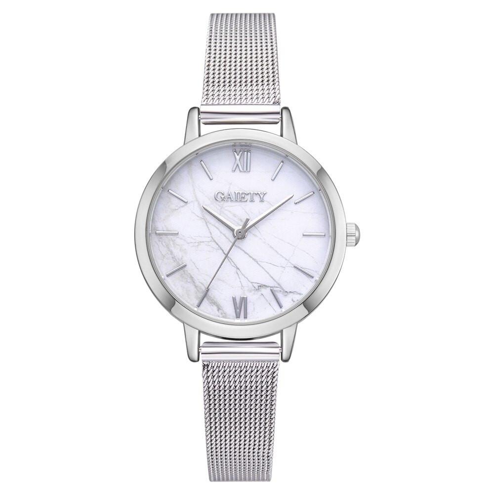 Стильные женские часы Gaiety с тонким металлическим браслетом | 6431