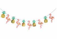 """Гирлянда """"фламинго ананасы"""""""