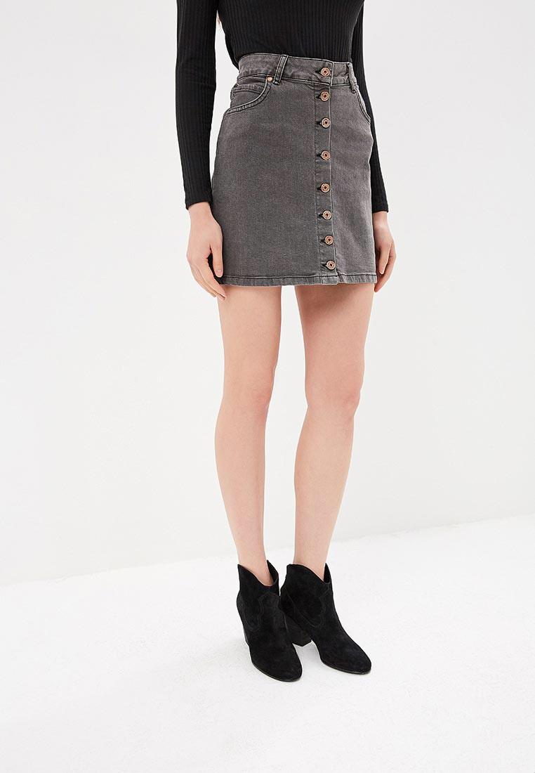 Джинсовая юбка на пуговицах спереди It's basic код 855