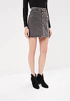 Джинсовая юбка на пуговицах спереди It's basic код 855, фото 1