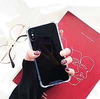 Черный зеркальный чехол для iphone x, iphone 6/6s iphone 7+/8+