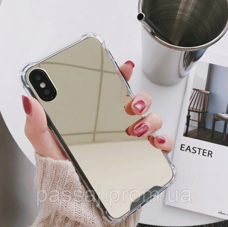 Золотистый зеркальный чехол для iphone x, iphone 6/6s iphone 7+/8+