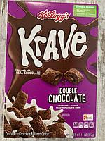 Сухой завтрак Kellogg's Krave хрустящие подушечки с двойным шоколадом