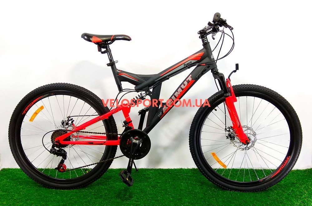 Горный велосипед Azimut Power 26 D+ черно-красный
