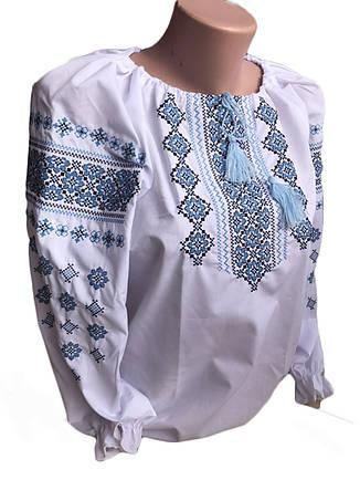 Женская вышиванка с орнаментом размеры 40,42,44,46,48, фото 2