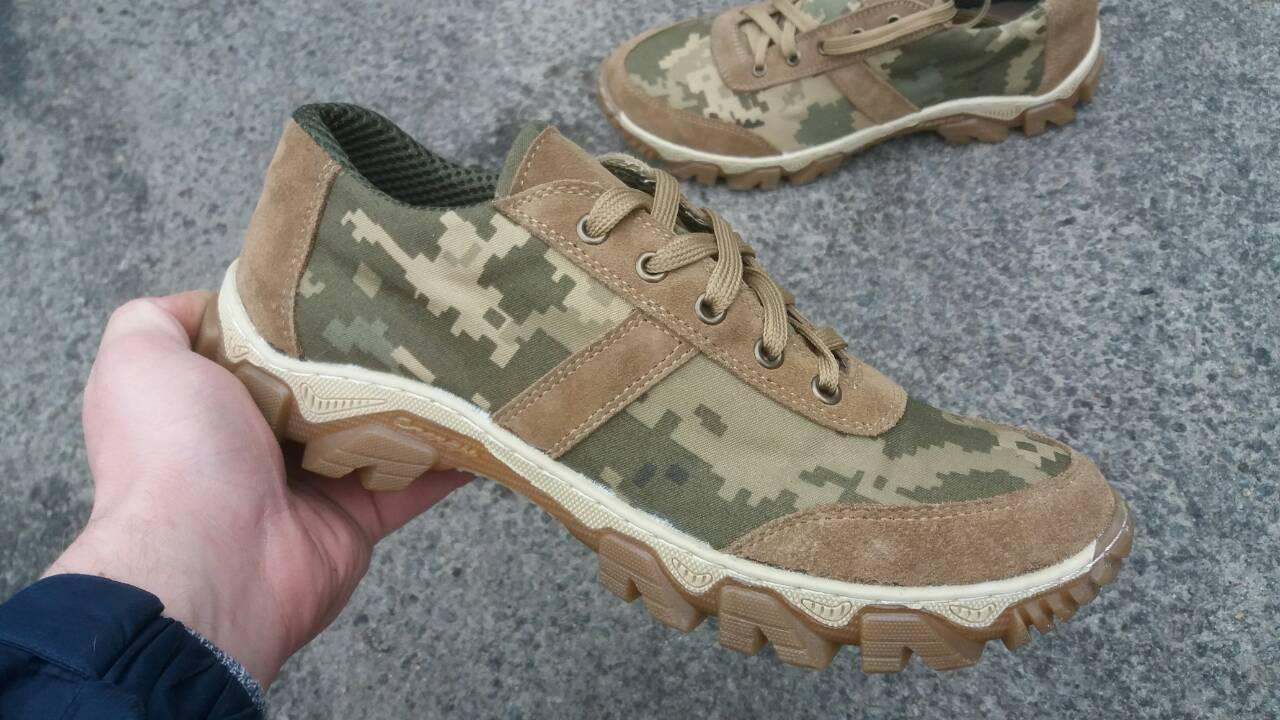 Тактические кроссовки из натуральной кожи мах к