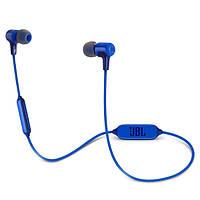 Навушники вакуумні безпровідні з мікрофоном JBL E25BT Blue, фото 1