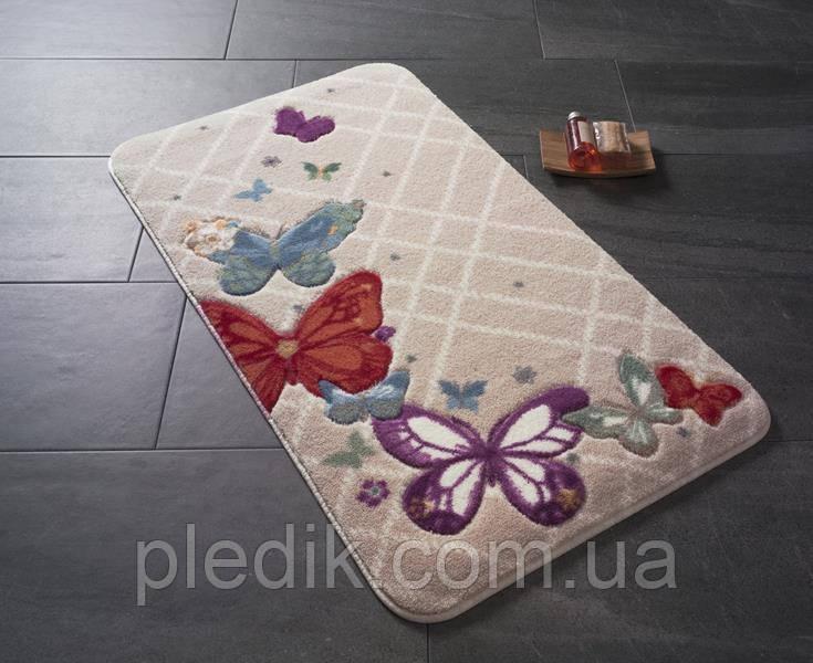 Коврик для ванной 80х140 Confetti Butterfly Plaid красный