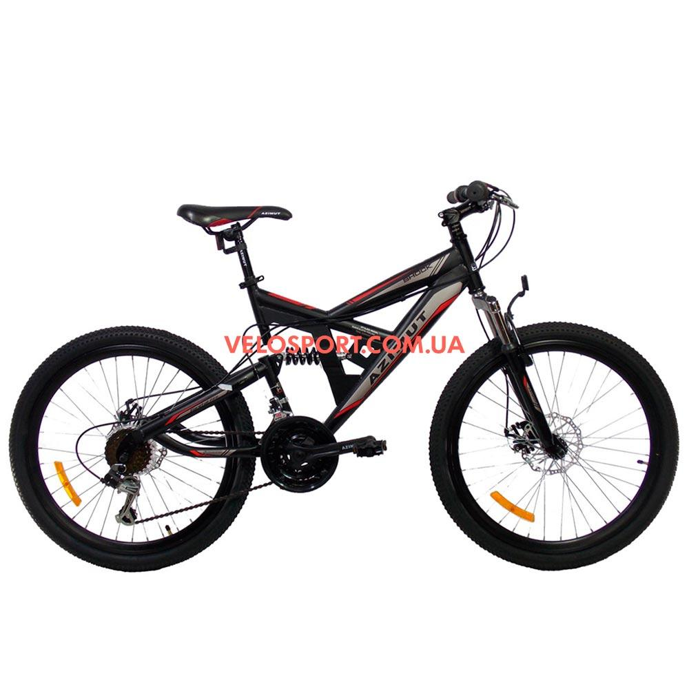 Горный велосипед Azimut Shock 26 GD черно-красный