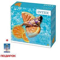 Пляжный надувной матрас для плавания Intex 58763 Долька Апельсина