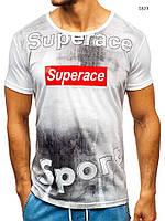 Мужская футболка J.Style белая с оригинальным принтом