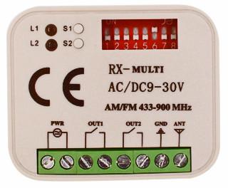 RX-multi. Приемник 2-х канальный 315-868 MHz.