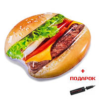 Надувной  матрас для плавания  Гамбургер с ручками Intex 58780
