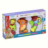 Набор музыкальных погремушек Baby Toys 3 шт Kronos Toys 2306 (tsi_54782)