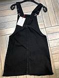 Чёрный женский джинсовый сарафан, фото 4