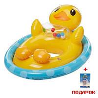 Детский надувной круг - плотик для плавания Intex 59570 надувной Утенок