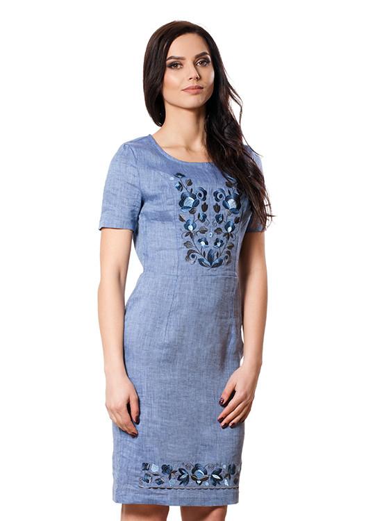Красивое платье с вышивкой (размеры S-2XL)