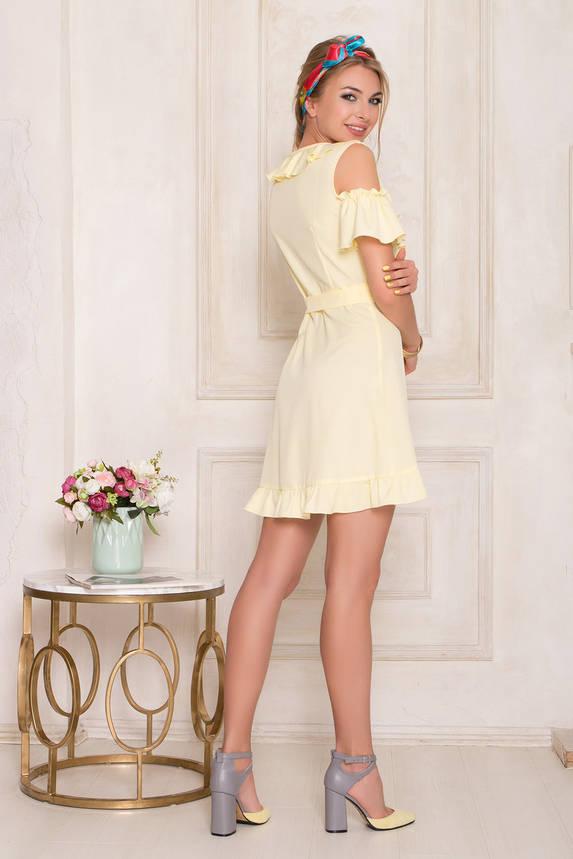 Короткое летнее платье желтое с запахом , фото 2