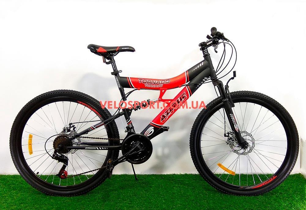 Горный велосипед Azimut Tornado 26 GD черно-красный